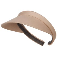 Visor - Khaki Cotton Small Clip On 3