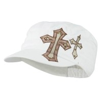 Cadet - White Cross Studs Military Cap