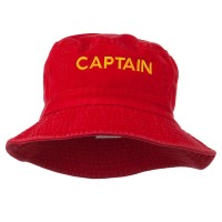 Bucket - Red Captain Embroidered Bucket