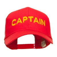 Embroidered Cap - Red Captain Embroidered Cap