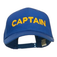 Embroidered Cap - Royal Captain Embroidered Cap
