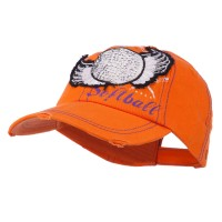 Ball Cap - Orange Softball , Feathers Baseball Cap