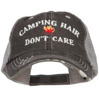 Embroidered Cap - Camping Hair Don't Care Mesh Cap
