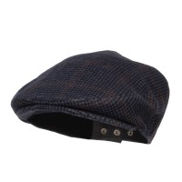 Ivy - Navy Men's Checkered Wool Ivy Hat
