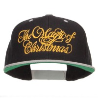 Embroidered Cap - Magic of Christmas Snapback Cap | Free Shipping | e4Hats.com