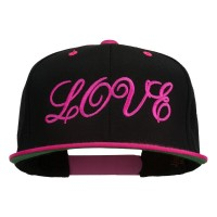 Embroidered Cap - Love Embroidered Snapback Cap | Free Shipping | e4Hats.com