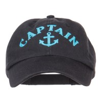 Embroidered Cap - Captain Anchor Embroidery Cap | Free Shipping | e4Hats.com