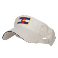 Visor - Colorado Flag Embroidered Visor | Free Shipping | e4Hats.com