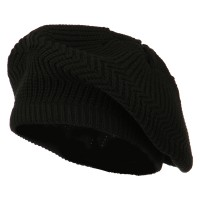 Beret - Black Cotton Rasta Tam Beret