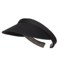 Visor - Black Cotton Small Clip On