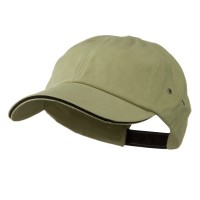 Ball Cap - Khaki Black Heavy Weight Cotton Cap