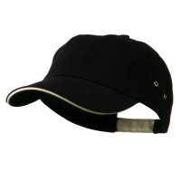 Ball Cap - Black Khaki Heavy Weight Cotton Cap