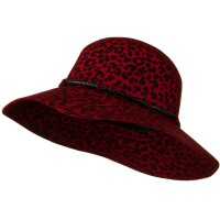 Dressy - Red Cheetah Wide Brim Woman's Hat