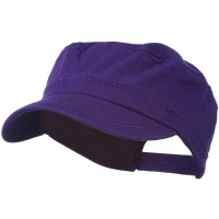 Cadet - Purple Colorful Washed Military Cap