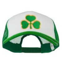 Embroidered Cap - White Kelly Clover St.Patrick's Day Big Size Cap
