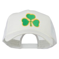 Embroidered Cap - White Clover St.Patrick's Day Big Size Cap