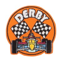 Patch - Orange Derby Races Embroidered Patches