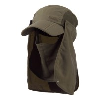 Flap Cap - Olive UV 50+ Folding Bill Double Flap Cap