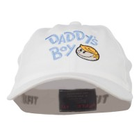 Embroidered Cap - White Daddy's Boy Youth Flexfit Cap