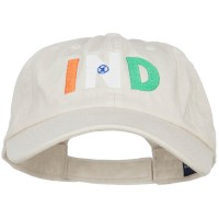 Embroidered Cap - India IND Flag Embroidered Low Profile Cap