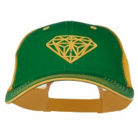Embroidered Cap - Kelly Gold Diamond Big Size Washed Cap