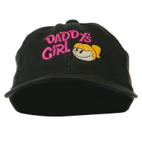 Embroidered Cap - Black Daddy's Girl Youth Flexfit Cap