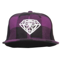 Embroidered Cap - Diamond Embroidered Plaid Cap | Free Shipping | e4Hats.com