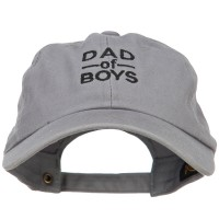 Embroidered Cap - Dad of Boys Embroidered Cap | Free Shipping | e4Hats.com