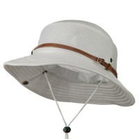 Outdoor - White Big Size Deluxe Mesh Bucket Hat