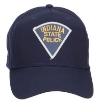 Embroidered Cap - Navy Indiana State Police Patch Cap   Coupon Free   e4Hats.com
