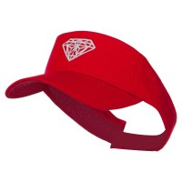 Visor - Diamond Embroidered Visor | Free Shipping | e4Hats.com