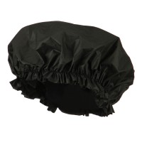 Wrap - Black Double Sided Shower Cap