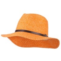 Fedora - Orange Mixed Paper Panama Fedora