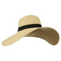 Dressy - Natural Black Ladies Ribbon Sun Hat