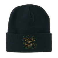 Beanie - Deck the Halls Embroidery Beanie | Free Shipping | e4Hats.com