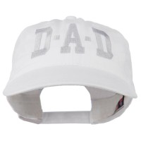 Embroidered Cap - White DAD Grey Letter Embroidered Cap