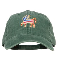 Embroidered Cap - Donkey USA Flag Embroidered Cap
