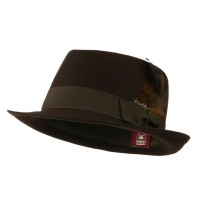 Fedora - Brown Diamond Wool Feather Fedora