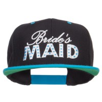 Embroidered Cap - Black Teal Bridesmaid Embroidered Snapback