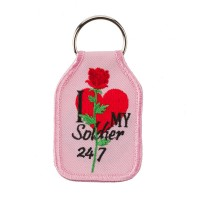 Chain - Pink Embroidered Army Key Chain