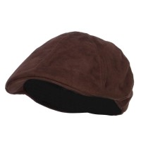 Ivy - Brown Suede Duck Bill Ivy Hat