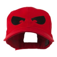 Embroidered Cap - Red Huge Eyes Embroidered Cap