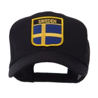 Embroidered Cap - Sweden Europe Flag Shield Patch Cap