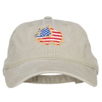 Embroidered Cap - Elephant USA Flag Embroidered Cap