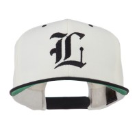 Embroidered Cap - Old English L Flat Bill Cap   Free Shipping   e4Hats.com