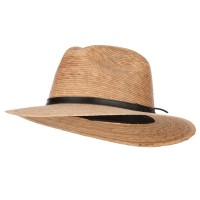 Fedora - Men's Palm Leather Band Fedora | Free Shipping | e4Hats.com
