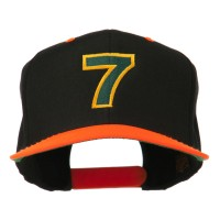 Embroidered Cap - 7 Embroidered Two Tone Cap | Free Shipping | e4Hats.com