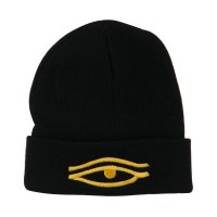 Beanie - Black Eye That Sees All Long Beanie