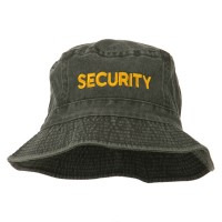 Bucket - Charcoal Security Embroidered Bucket Hat