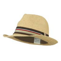 Fedora - Tan Men's Woven Straw Fedora